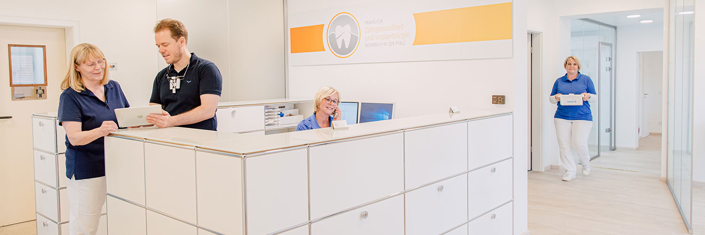 Zahnarzt in Rohrbach - Zahnarztpraxis - Maximilian Wessel - Praxis - Empfang
